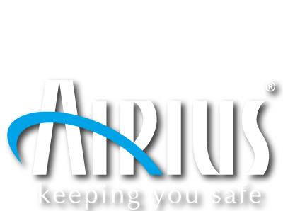Airius Air Purification Logo - White With Shadow